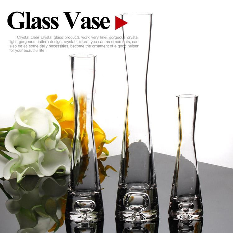 Hand Blown Glass Vases Manufacturer Clear Glass Flower