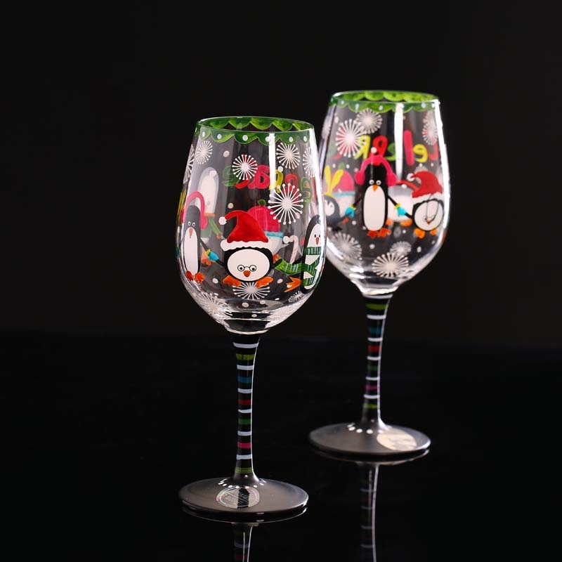 Hand painted wine glasses glass cup manufacturer for Hand painted glassware