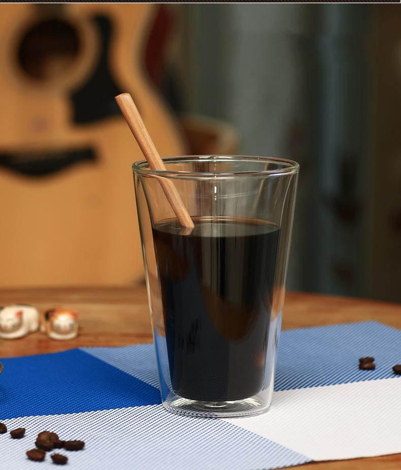 r sistant la chaleur double tasse en verre double paroi des verres boire doubles caf. Black Bedroom Furniture Sets. Home Design Ideas