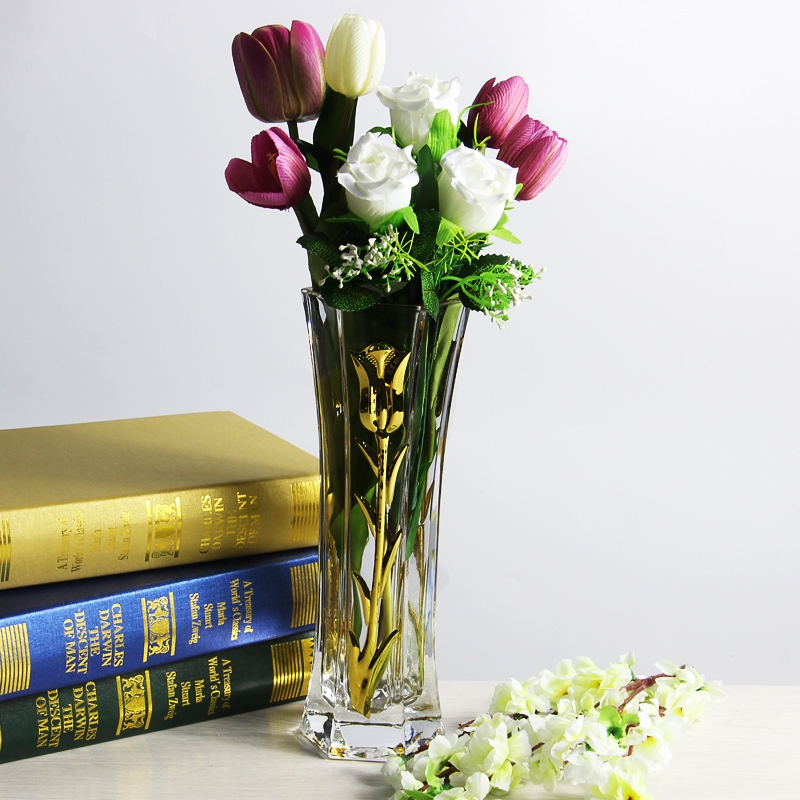 New Gold Mercury Glass Vases And Tulip Electroplating Glass Vase