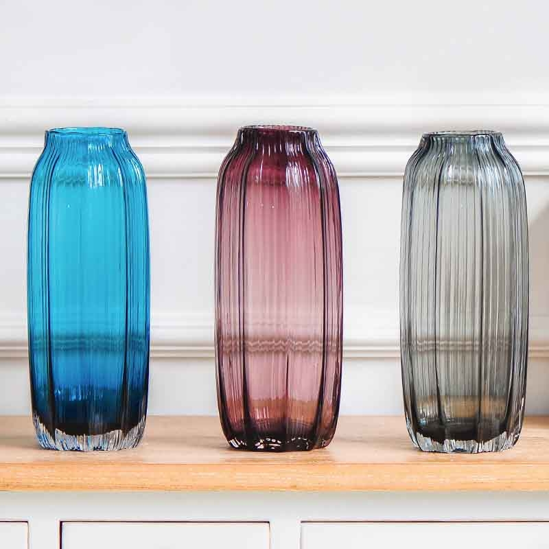 Red Glass Vase And Cheap Blue Vases Wholesale
