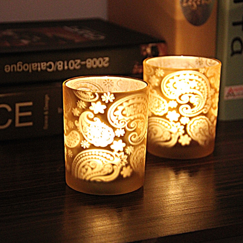 retro light gold candle holder glass candle holders