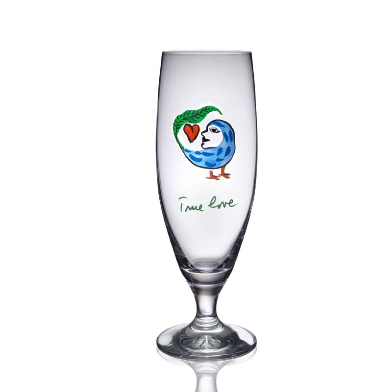 Cups transparent personal hand painted wine glass cups for Hand painted glassware